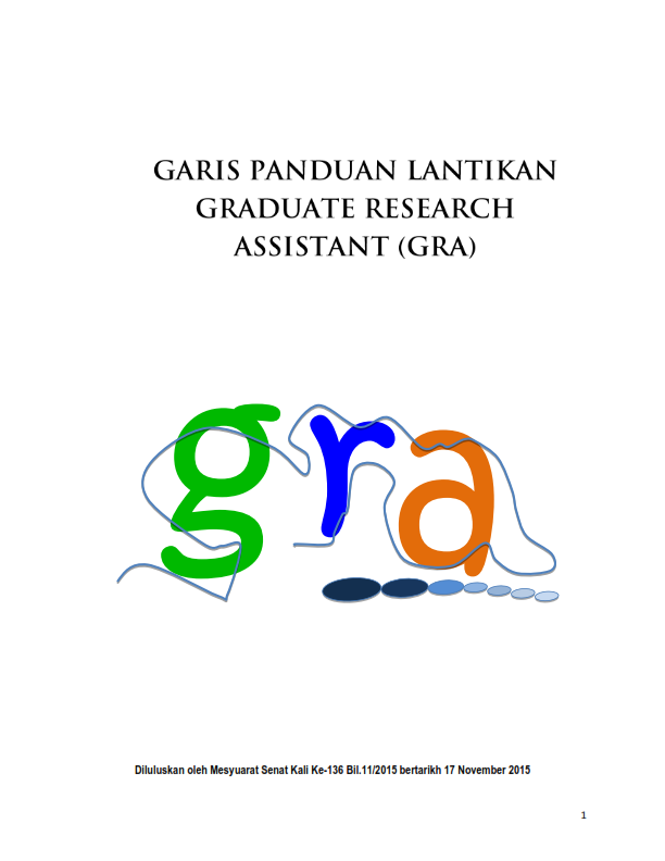 APPOINTMENT OF GRADUATE RESEARCH ASSISTANCE GUIDELINE